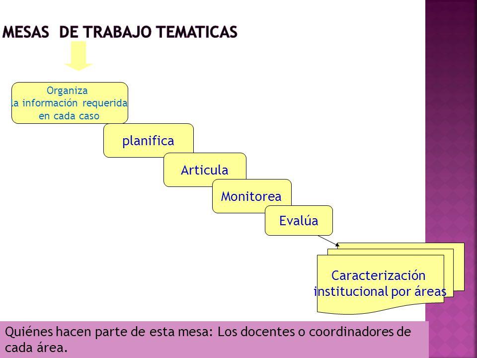 MESAS DE TRABAJO TEMATICAS