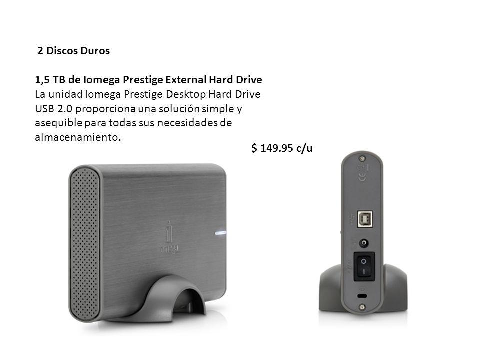 2 Discos Duros1,5 TB de Iomega Prestige External Hard Drive.