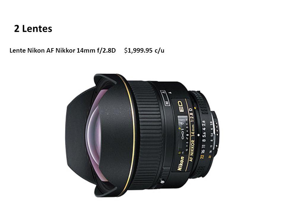 2 Lentes Lente Nikon AF Nikkor 14mm f/2.8D $1,999.95 c/u