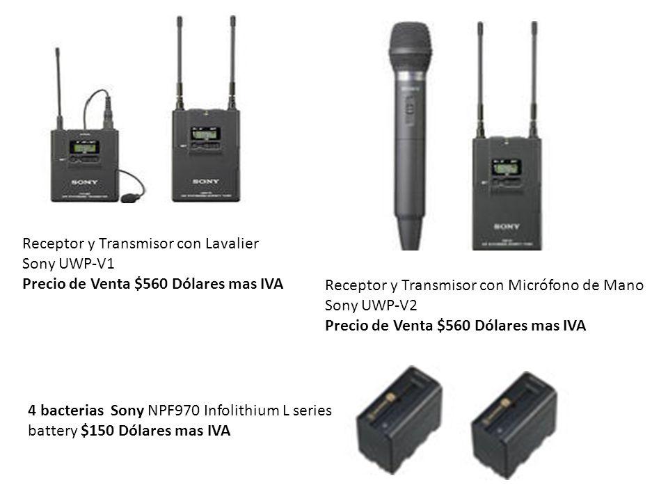 Receptor y Transmisor con Lavalier Sony UWP-V1 Precio de Venta $560 Dólares mas IVA