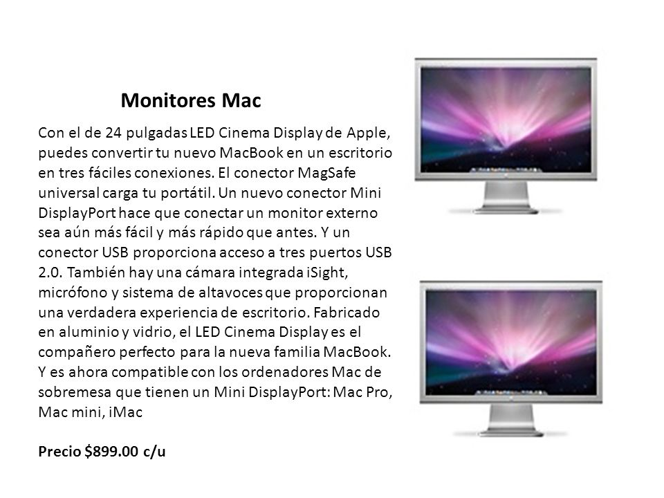 Monitores Mac