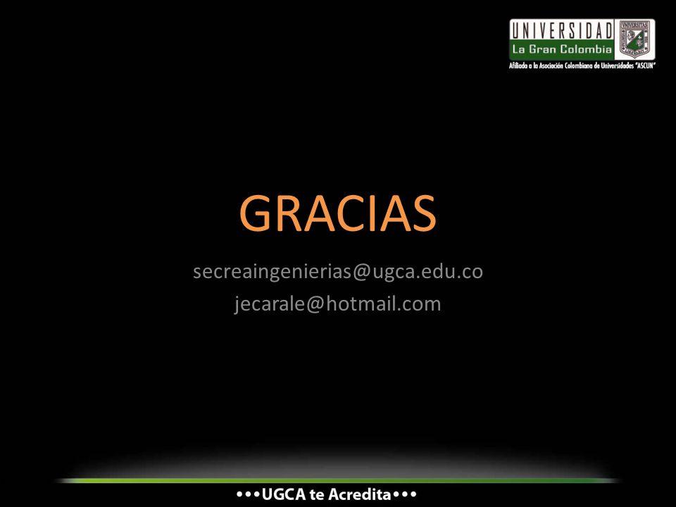 secreaingenierias@ugca.edu.co jecarale@hotmail.com