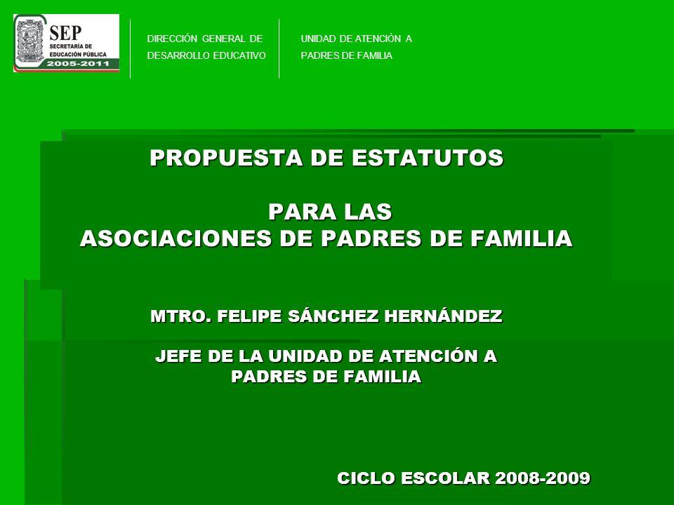 DIRECCIÓN GENERAL DE DESARROLLO EDUCATIVO. UNIDAD DE ATENCIÓN A. PADRES DE FAMILIA.
