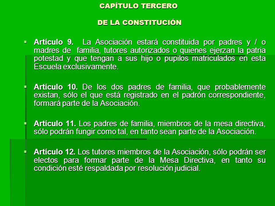 CAPÍTULO TERCERO DE LA CONSTITUCIÓN