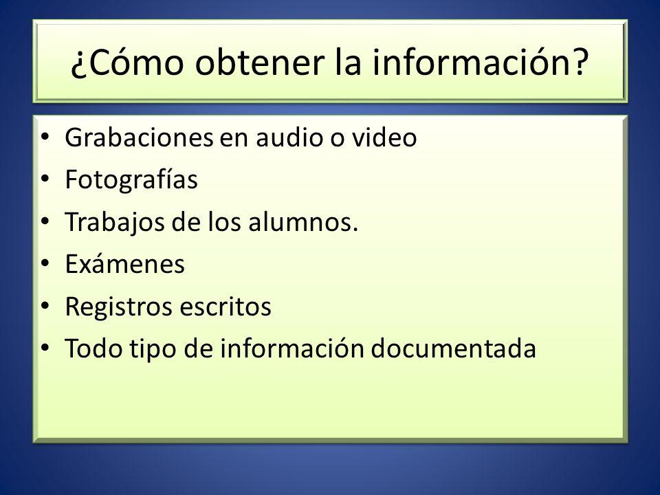 ¿Cómo obtener la información