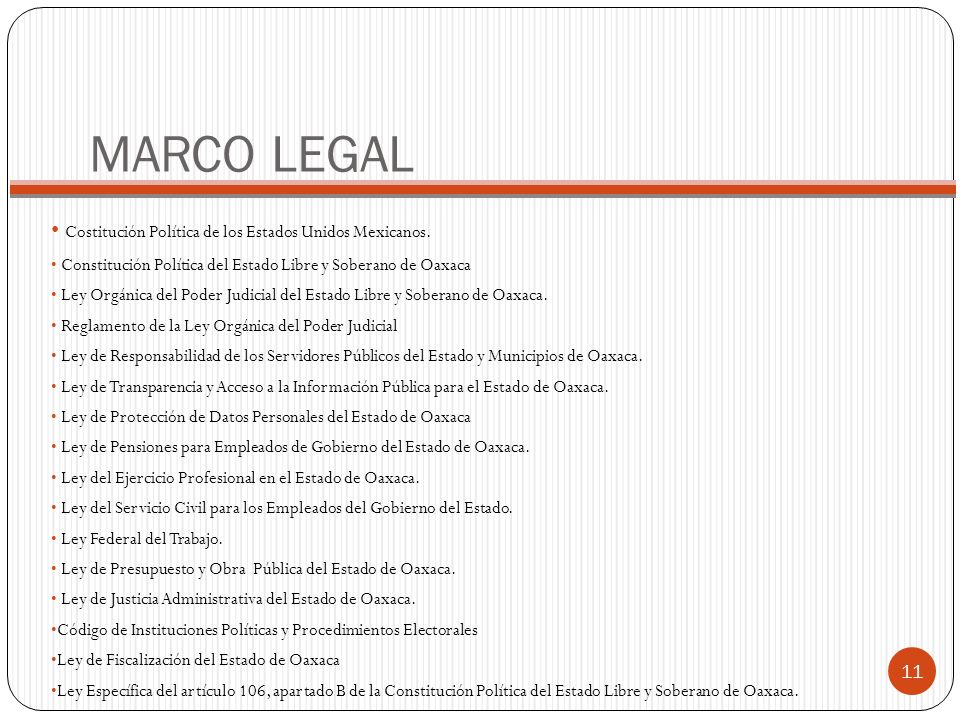 MARCO LEGAL Costitución Política de los Estados Unidos Mexicanos.