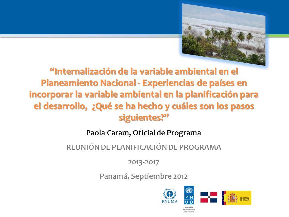 Paola Caram, Oficial de Programa REUNIÓN DE PLANIFICACIÓN DE PROGRAMA