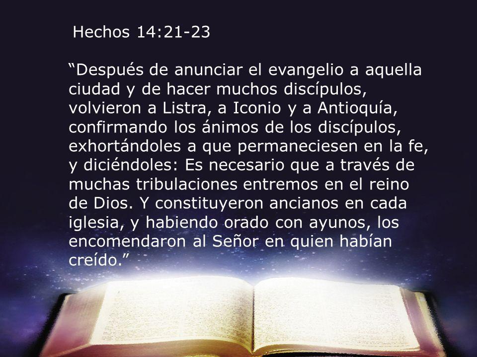 Hechos 14:21-23