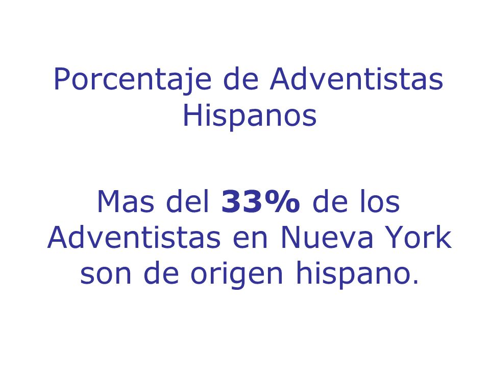 Porcentaje de Adventistas Hispanos