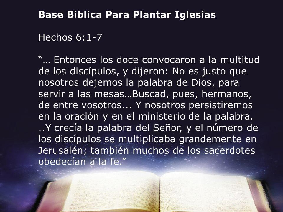 Base Biblica Para Plantar Iglesias