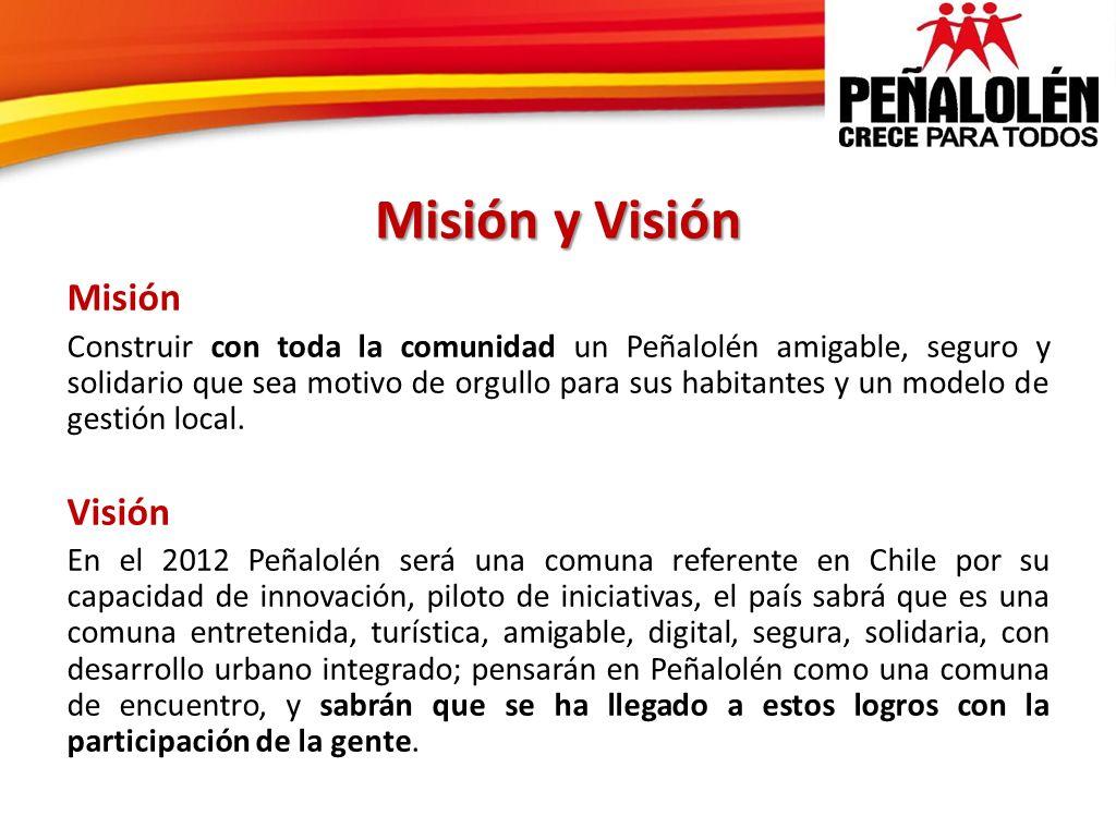 Misión y Visión Misión Visión