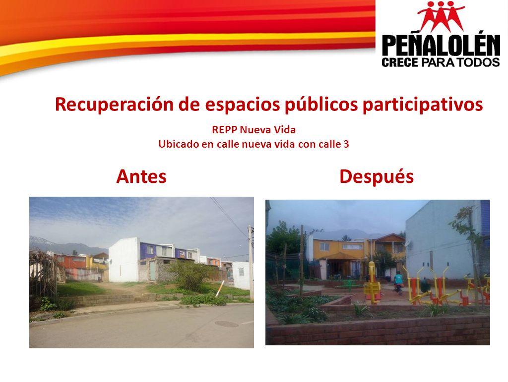 Recuperación de espacios públicos participativos