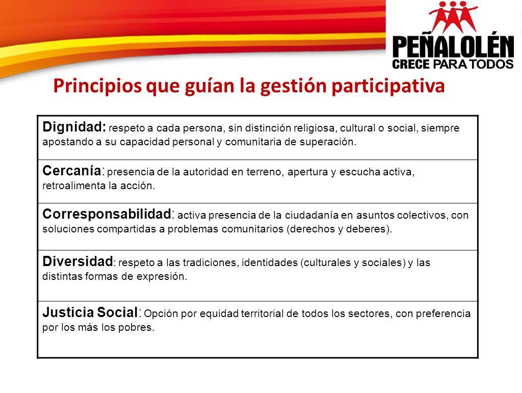 Principios que guían la gestión participativa