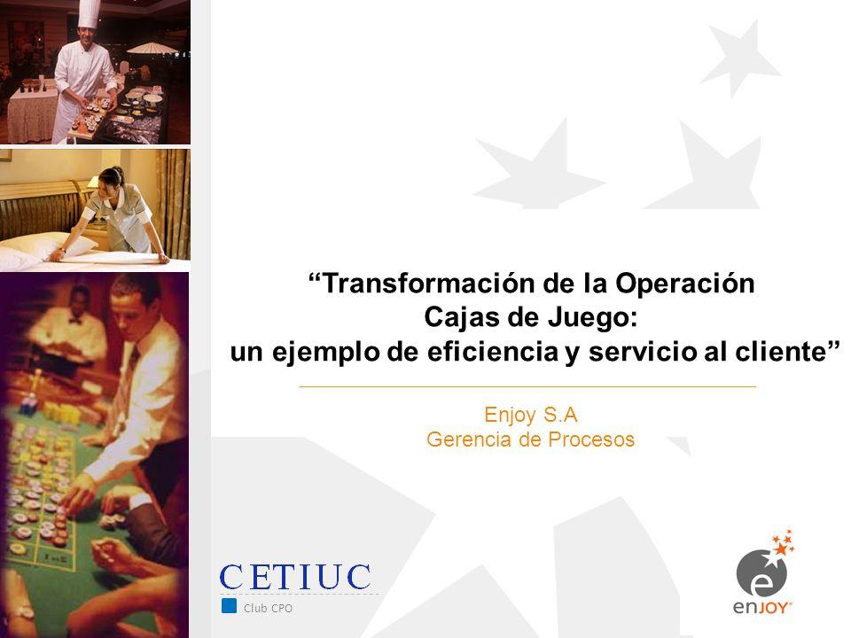 Transformación de la Operación Cajas de Juego: