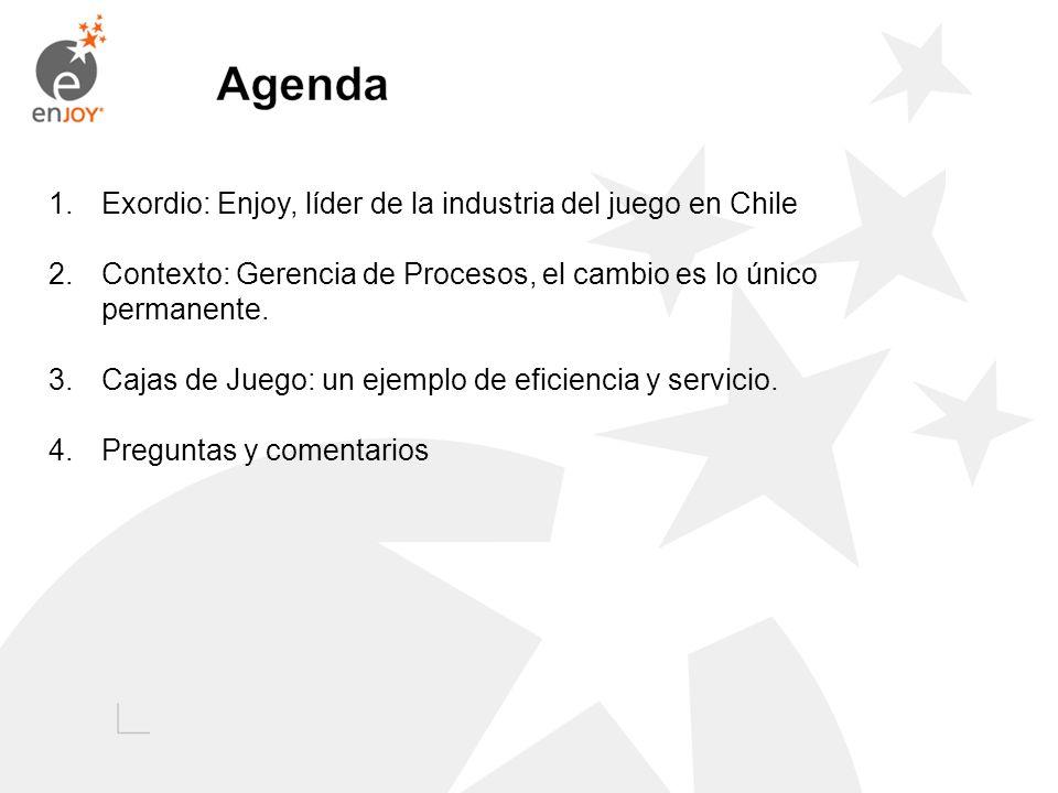 Agenda Exordio: Enjoy, líder de la industria del juego en Chile