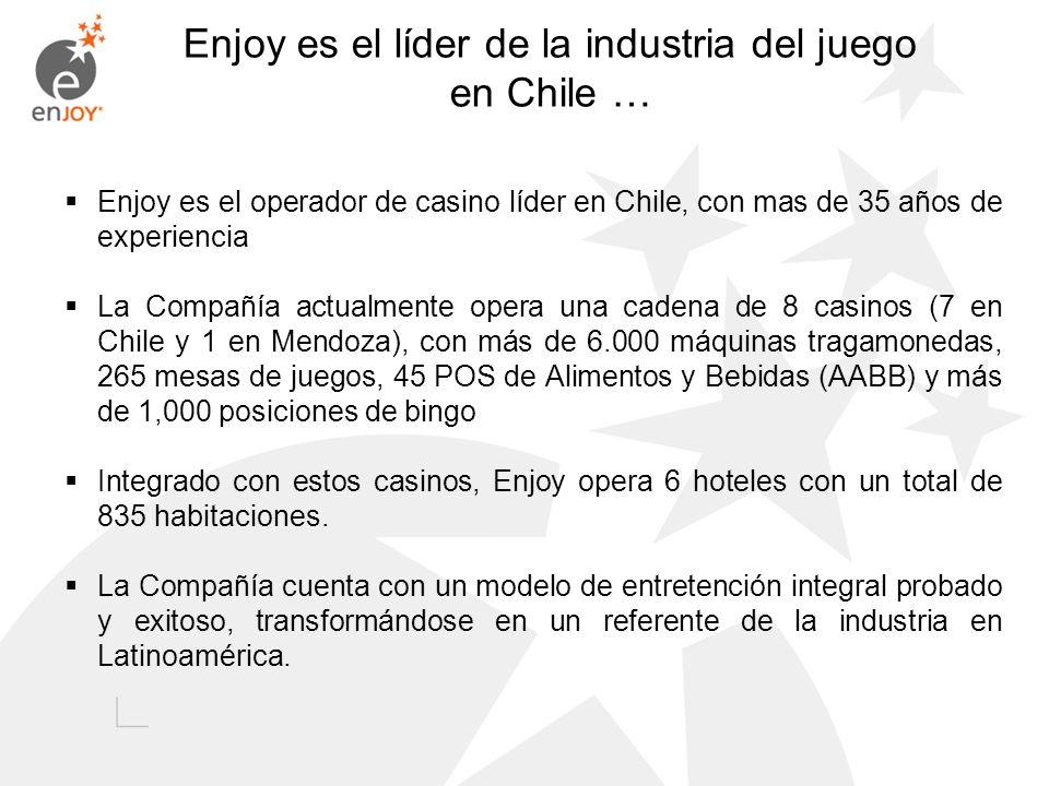 Enjoy es el líder de la industria del juego en Chile …