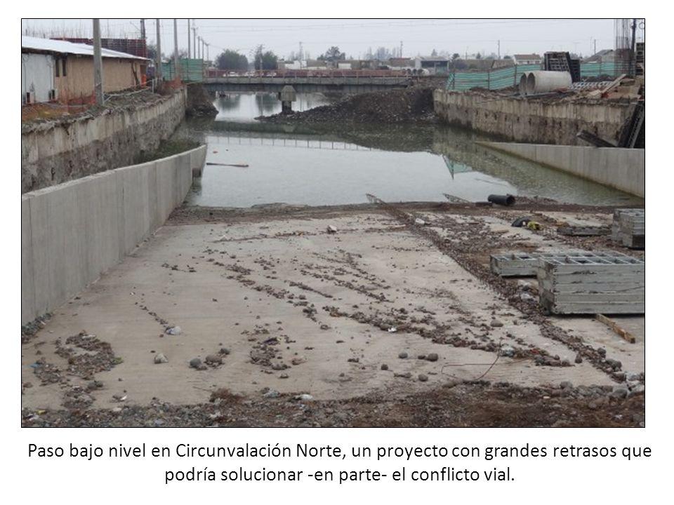 Paso bajo nivel en Circunvalación Norte, un proyecto con grandes retrasos que podría solucionar -en parte- el conflicto vial.