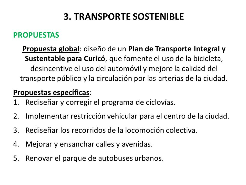 3. TRANSPORTE SOSTENIBLE