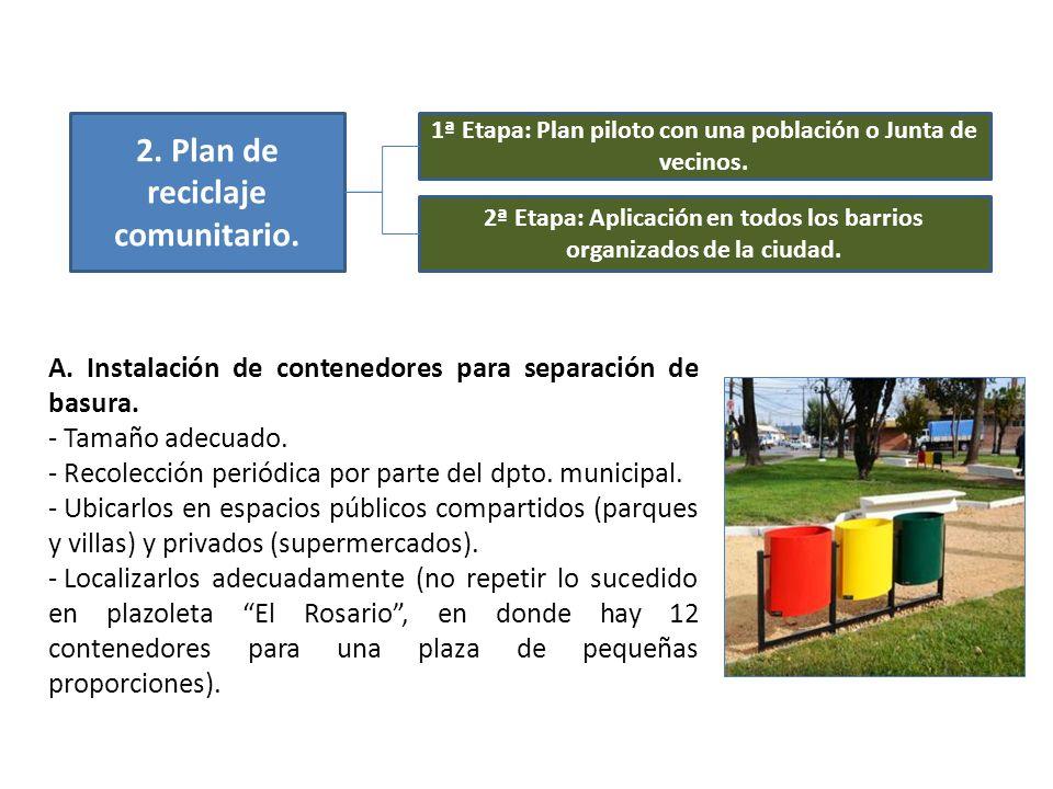 2. Plan de reciclaje comunitario.