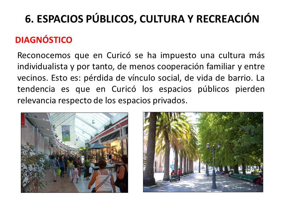 6. ESPACIOS PÚBLICOS, CULTURA Y RECREACIÓN