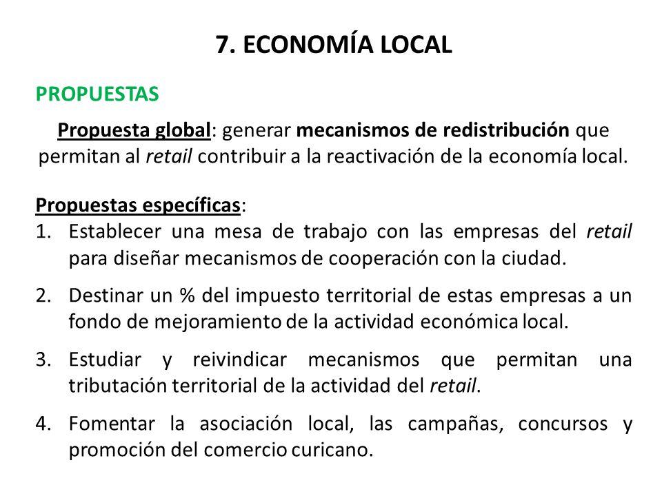7. ECONOMÍA LOCAL PROPUESTAS