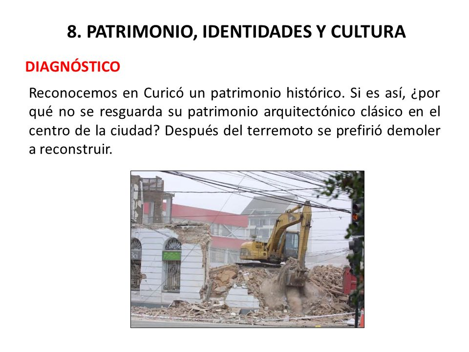 8. PATRIMONIO, IDENTIDADES Y CULTURA