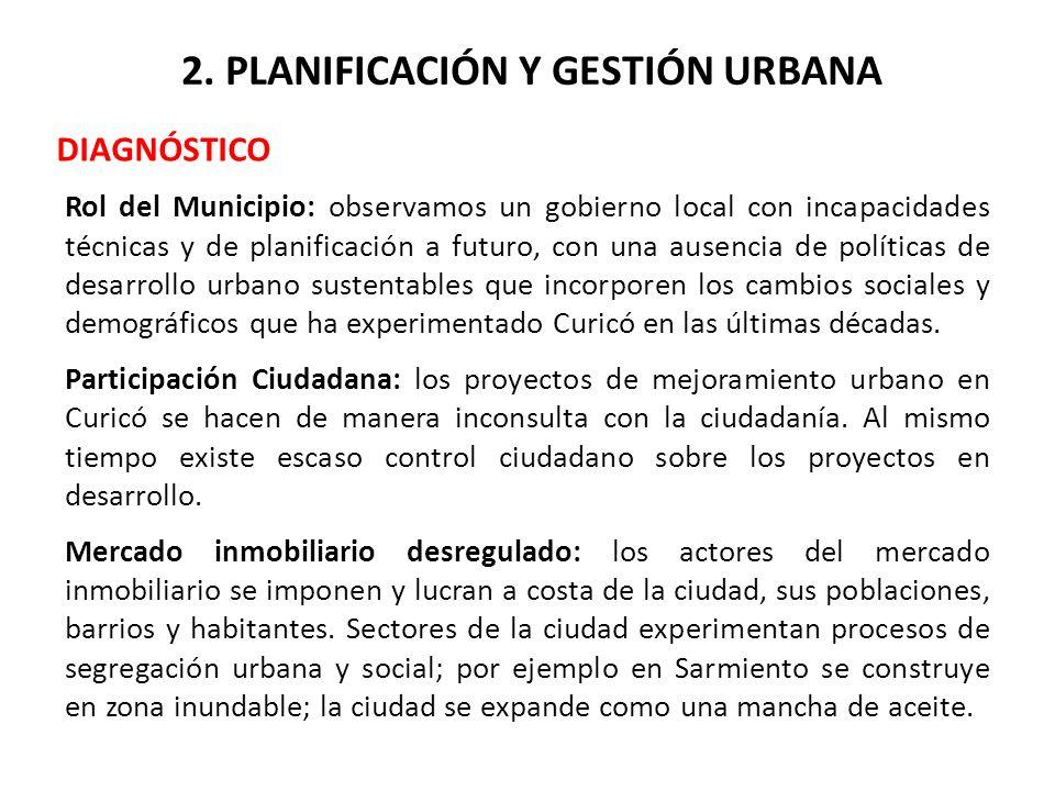 2. PLANIFICACIÓN Y GESTIÓN URBANA