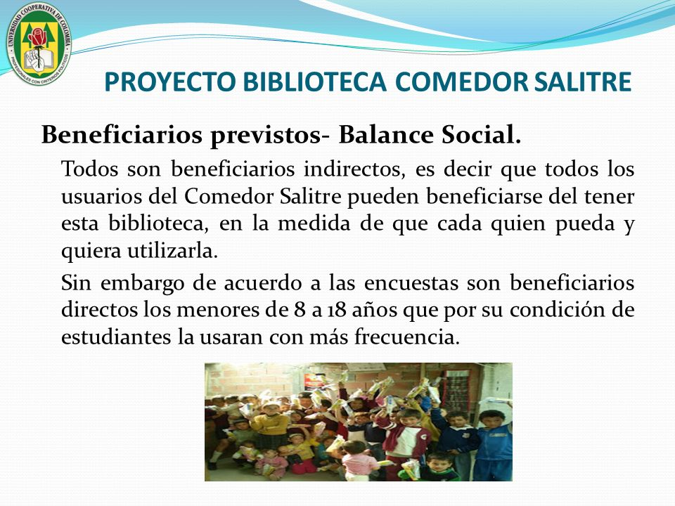 PROYECTO BIBLIOTECA COMEDOR SALITRE