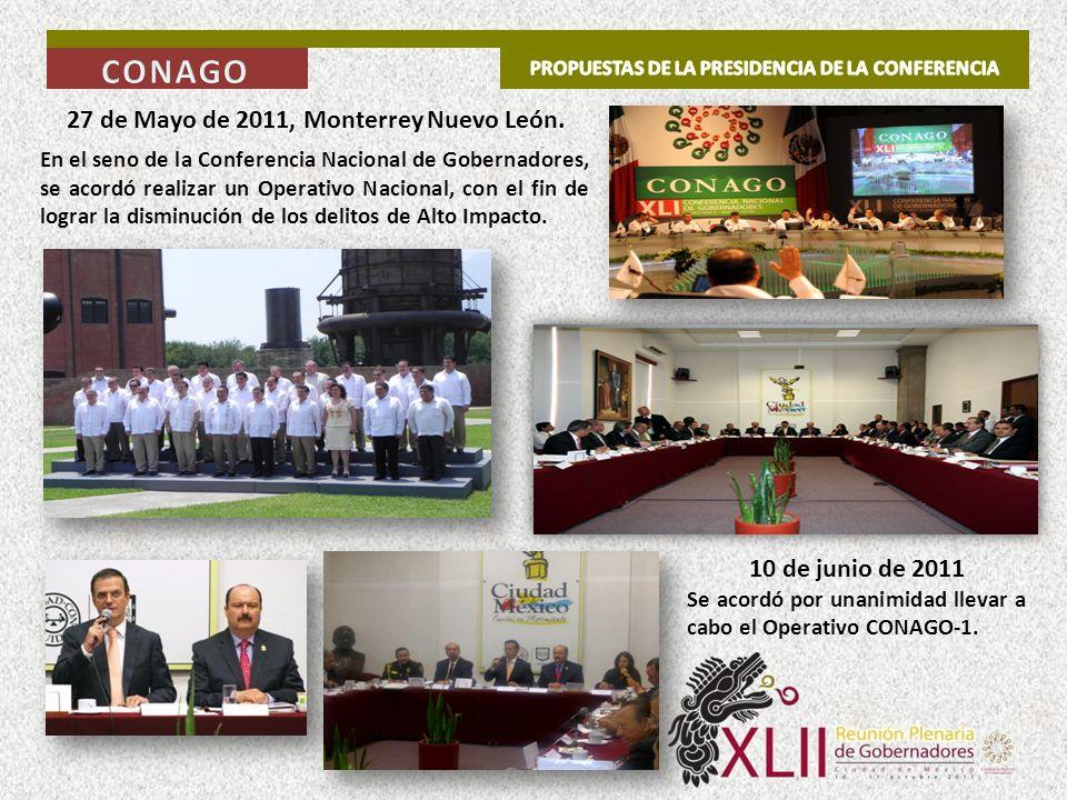 CONAGO 27 de Mayo de 2011, Monterrey Nuevo León. 10 de junio de 2011