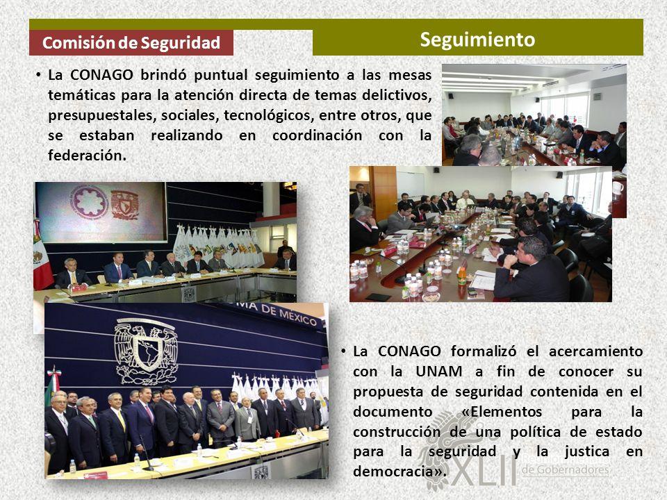 Seguimiento Comisión de Seguridad