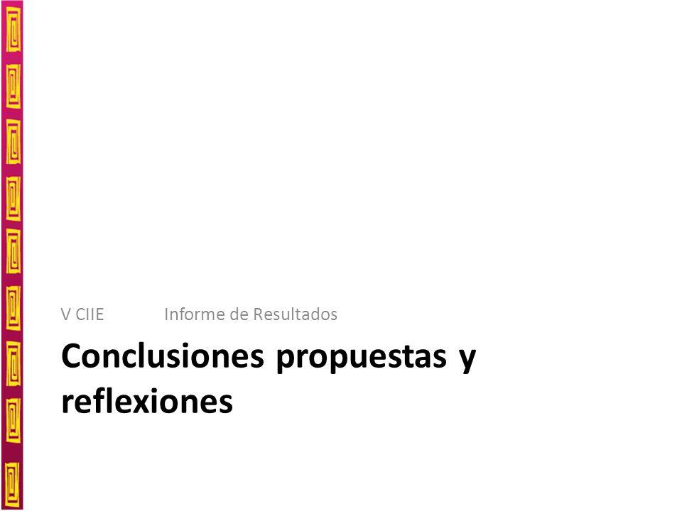 Conclusiones propuestas y reflexiones