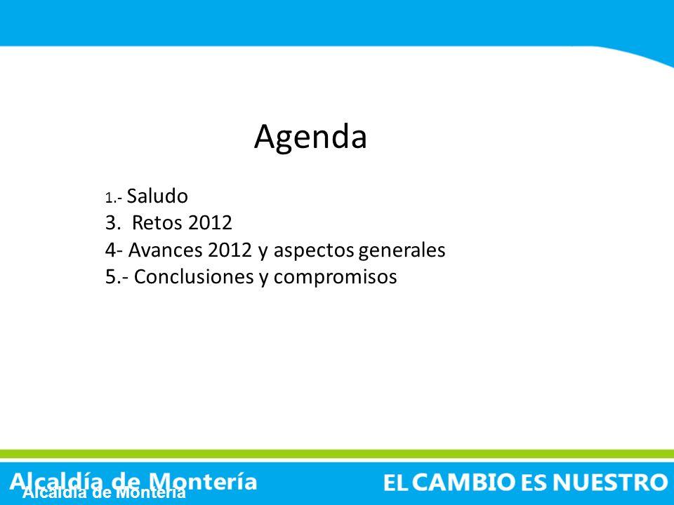 Agenda 3. Retos 2012 4- Avances 2012 y aspectos generales