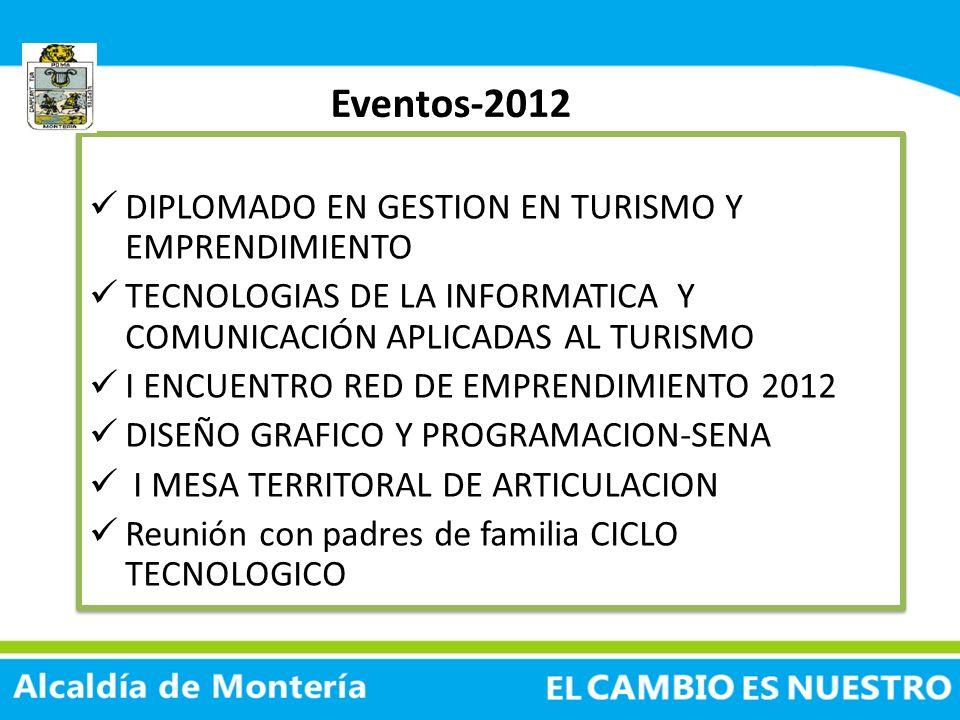 Eventos-2012 DIPLOMADO EN GESTION EN TURISMO Y EMPRENDIMIENTO