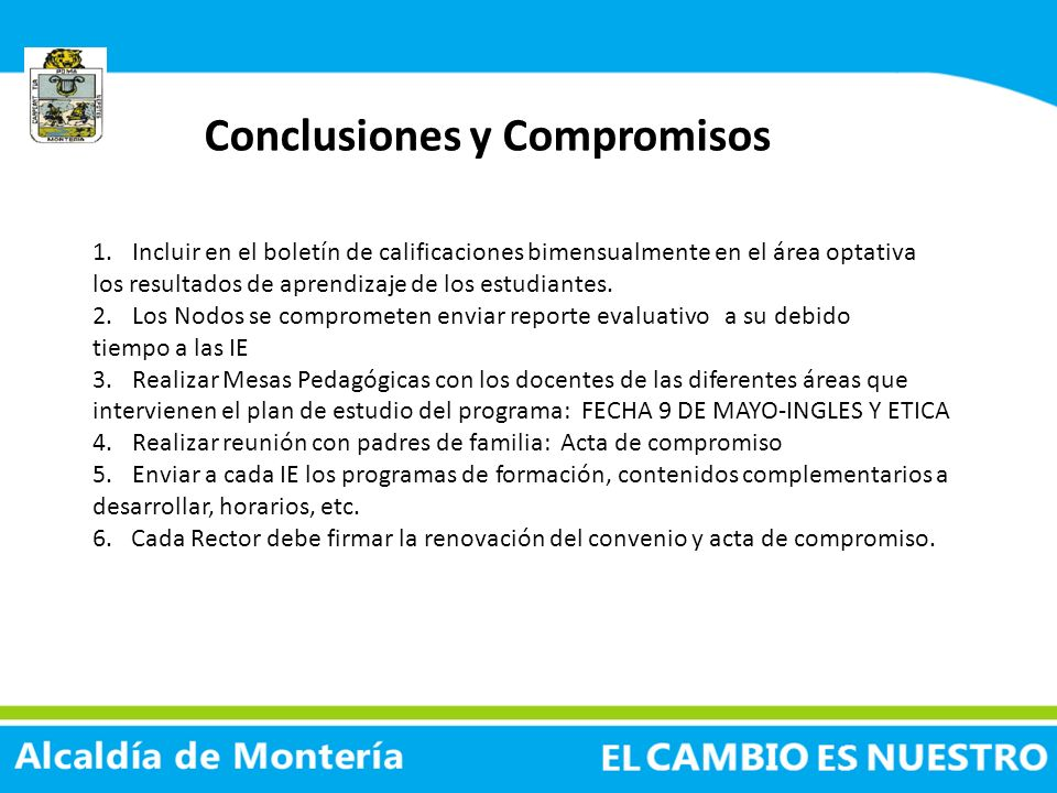 Conclusiones y Compromisos