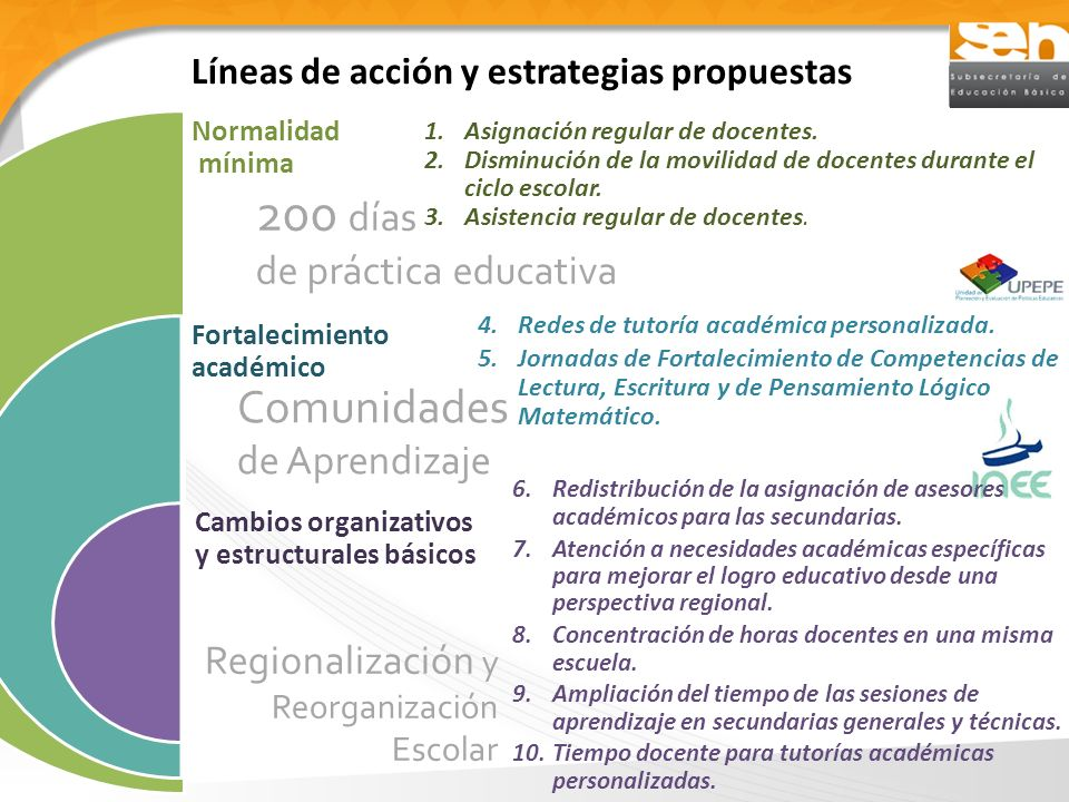 Líneas de acción y estrategias propuestas