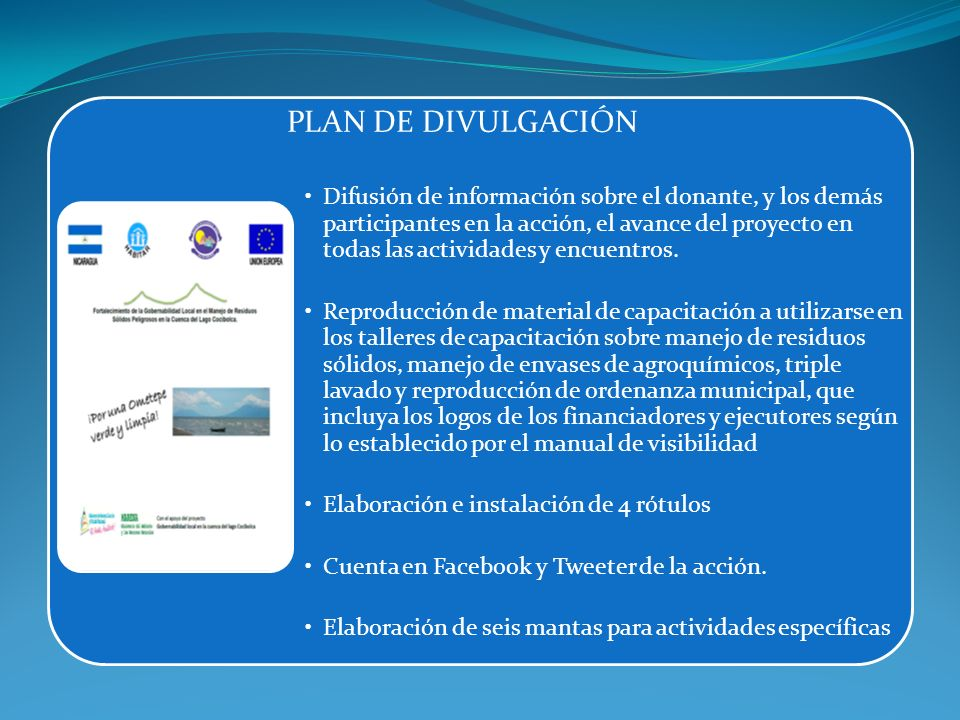 PLAN DE DIVULGACIÓN