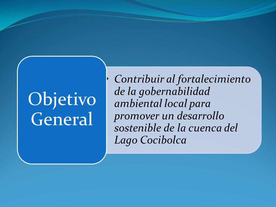 Contribuir al fortalecimiento de la gobernabilidad ambiental local para promover un desarrollo sostenible de la cuenca del Lago Cocibolca