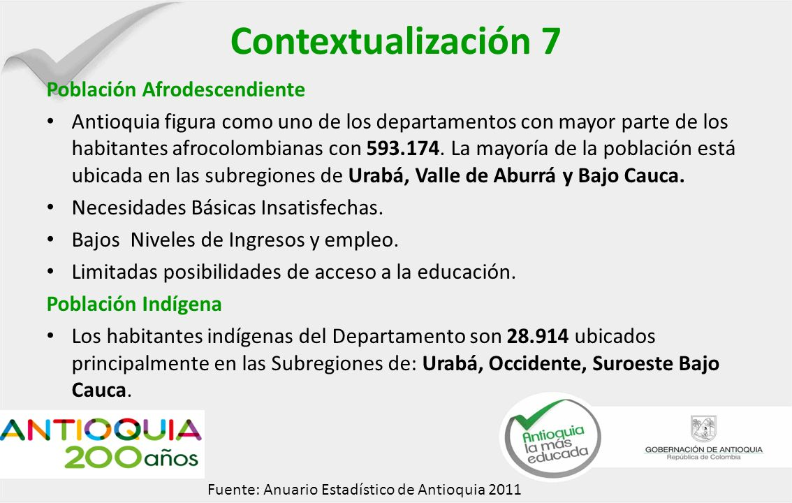Contextualización 7 Población Afrodescendiente