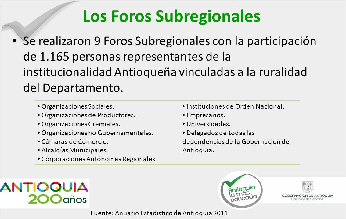 Los Foros Subregionales