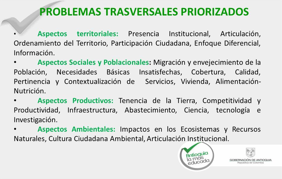 PROBLEMAS TRASVERSALES PRIORIZADOS