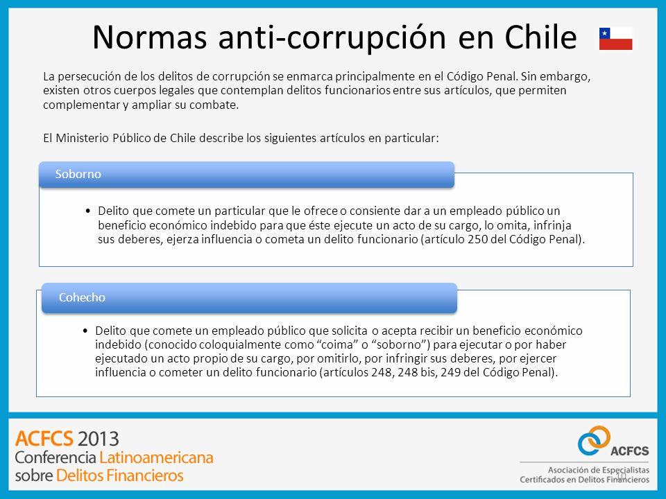 Normas anti-corrupción en Chile