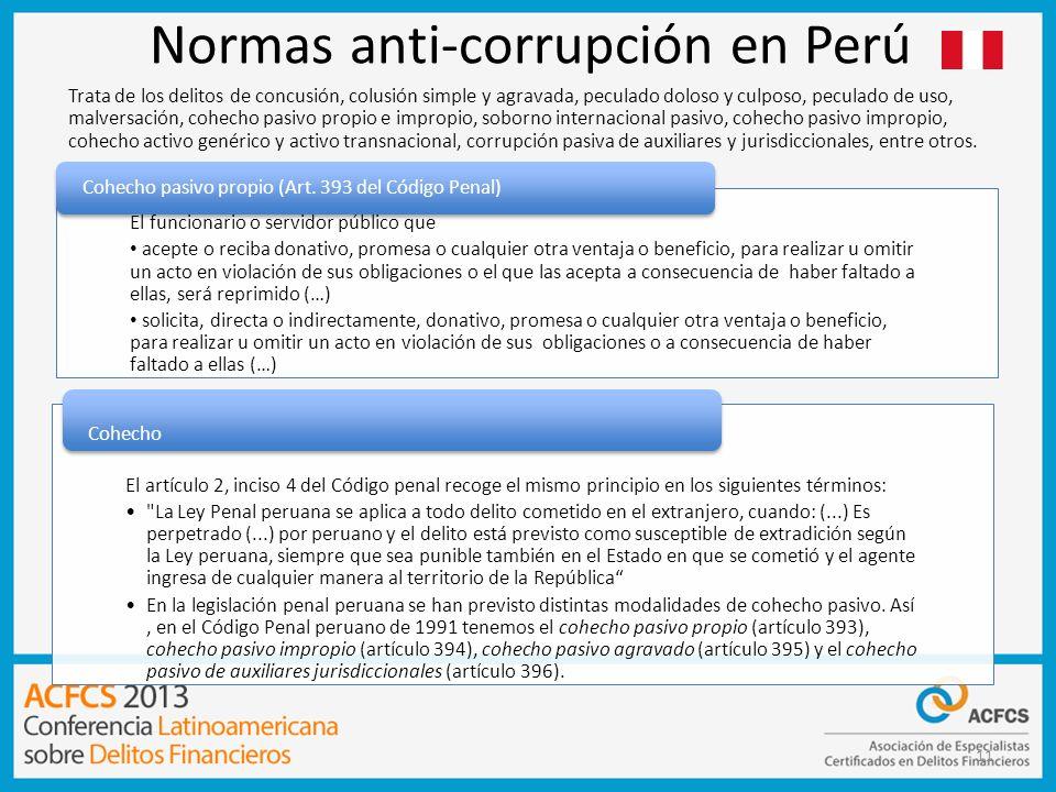 Normas anti-corrupción en Perú