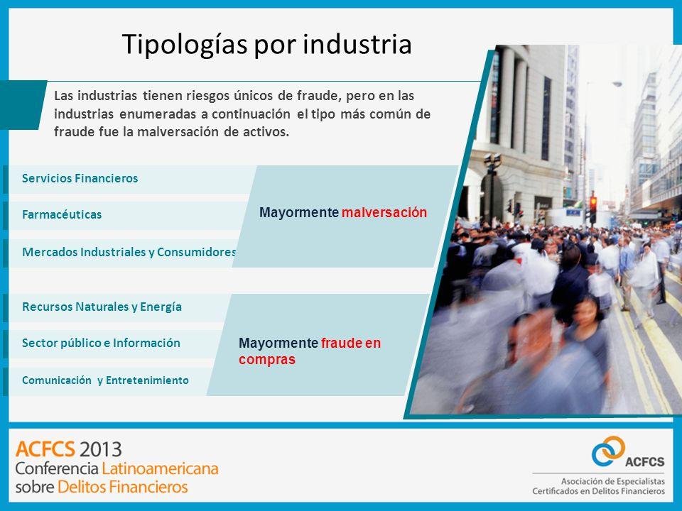 Tipologías por industria