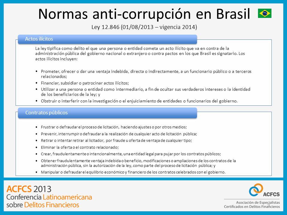 Normas anti-corrupción en Brasil Ley 12