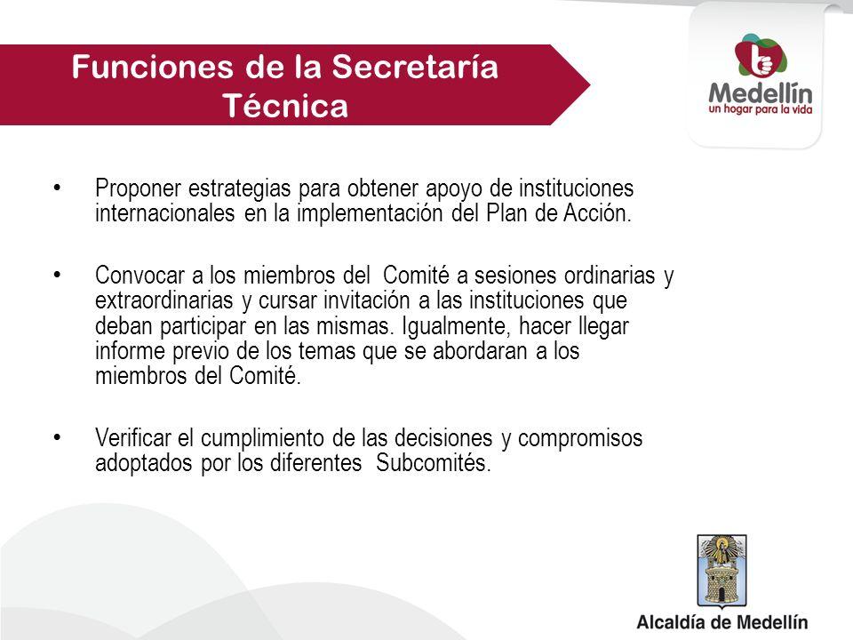 Funciones de la Secretaría Técnica