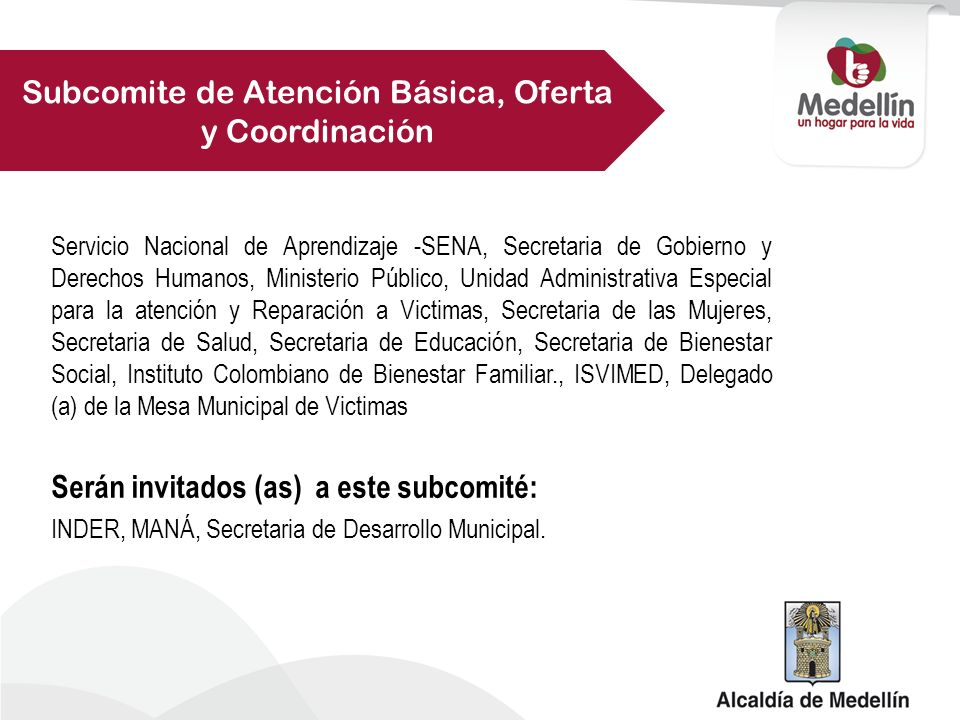 Subcomite de Atención Básica, Oferta y Coordinación