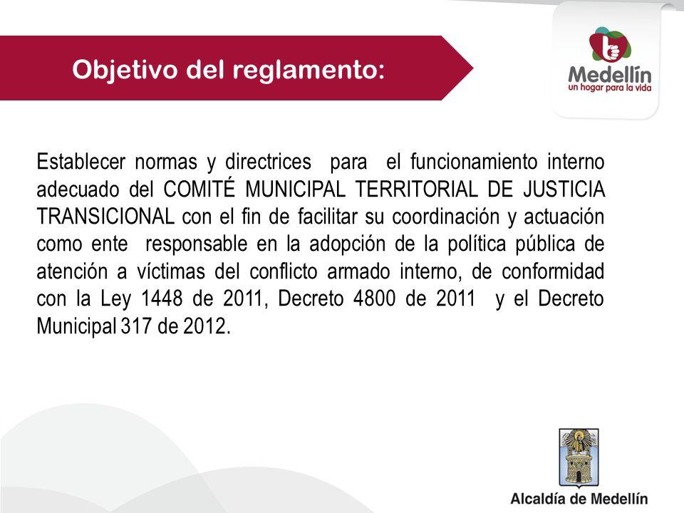 Objetivo del reglamento: