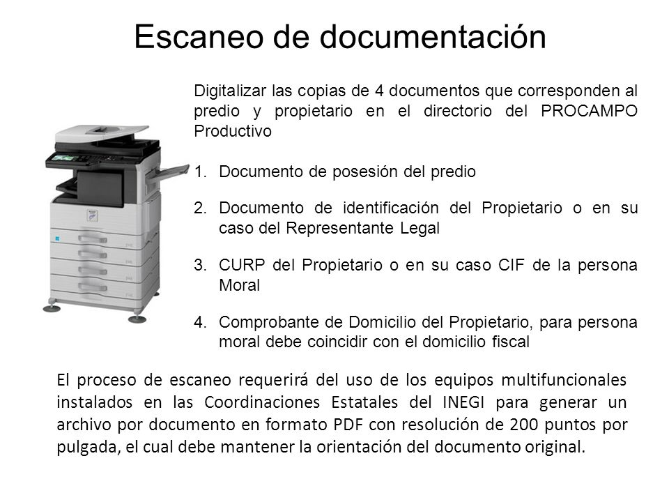 Escaneo de documentación
