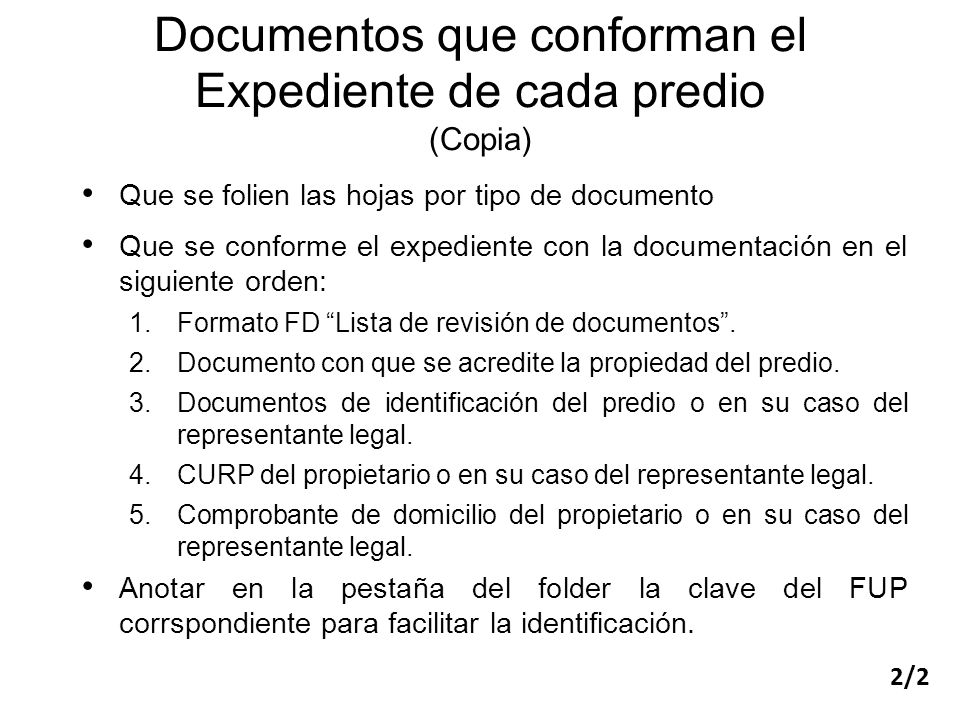Documentos que conforman el Expediente de cada predio (Copia)