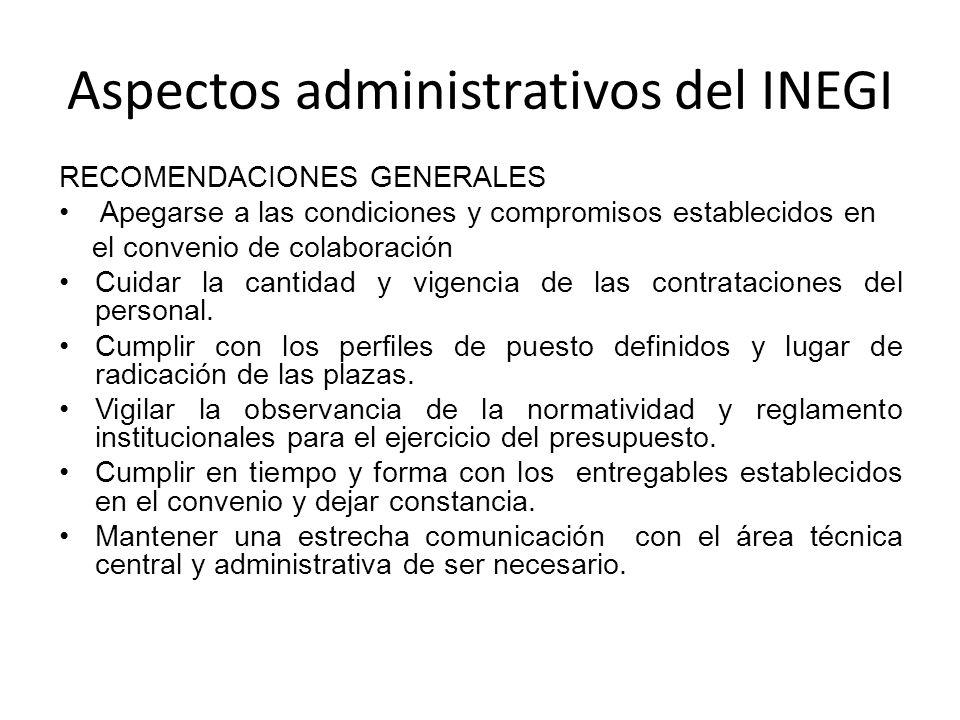 Aspectos administrativos del INEGI